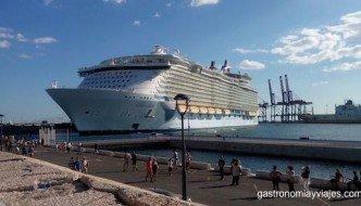 El crucero Oasis of the Seas vuelve a visitar Málaga