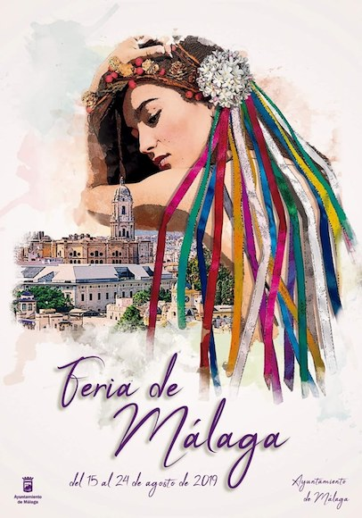 Cartel de la Feria de Málaga 2019 titulado 'La diosa Málaga'